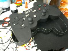 Caja control play station.