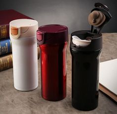 [Visit to Buy] 350ml High Quality Stainless Steel Thermos Mugs Car Vacuum Flasks Anti-Dust Coffee Tea Milk Cups Thermocup Thermomug #Advertisement