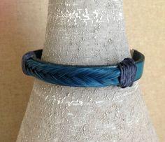 Bracelet mixte bleu Tresse crin de cheval