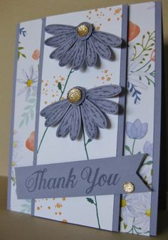 Wisteria Daisies Thank You Card by Barb Mann - Cards and Paper Crafts at Splitcoaststampers