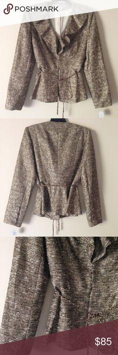 "NWT Kay Unger NY Blazer - Metallic Gold NWT Kay Unger NY Blazer - Metallic Gold. 23"" length, 17"" chest, 13"" chest. Excellent Condition -no Flaws no Fading. Retail $297.00 #10061603 Kay Unger Jackets & Coats Blazers"