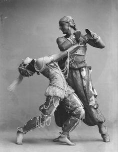"Vera Fokina & Mikhail Fokin in the Ballet Russes ""Scheherazde"", Stockholm, 1914."