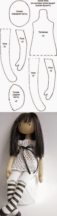 Tudo em Pano: Molde de boneca!!! um charme!!!......