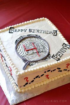 Penny's Super Secret Spy Party: Amazing cake by Hilary!
