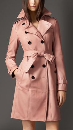 Deerskin Trench Coat | Burberry. love this,reminds me of April in Paris.