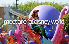 bucket list: meet ariel at disney world.