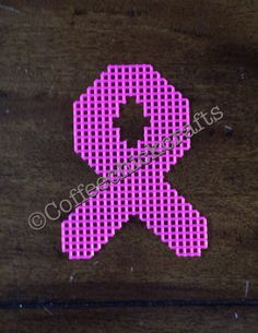 Individual Plastic Canvas Awareness Ribbon Cut Outs Plastic Canvas for Needlepoint ANY COLOR Plastic Canvas Letters, Plastic Canvas Christmas, Plastic Canvas Crafts, Canvas Patterns, Craft Patterns, Crochet Patterns, Breast Cancer Crafts, Awareness Ribbons, Cancer Awareness