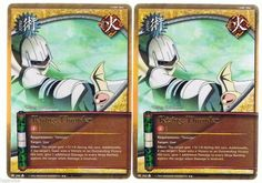 2x J-262 Rising Thunder Gold Letters Rare #Naruto Cards 1st edition