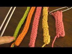 I-cord o cordón tubular en agujas de dos puntas, circular y convencionales