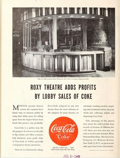 From Showmen's Trade Review, June 26, 1948. The Roxy Theatre, 153 West 50th Street, NYC #theater #moviepalace #NYC #theatretalks #roxy #coca-cola