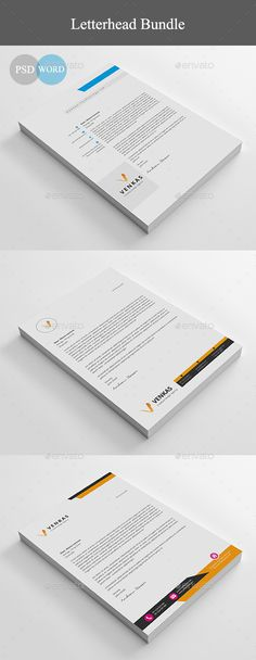 Creative Professional Letterhead Template Word  Letterhead