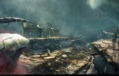 Crysis 2 Concept Art by Dennis Chan