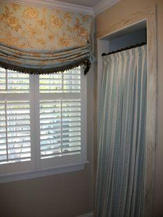 Custom London shade and shower curtain.