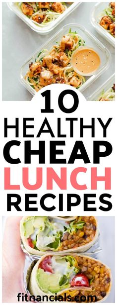 10 Healthy And Cheap Lunch Recipes. Here is a great list of 10 healthy and cheap lunch recipes. Here is a list of 10 healthy and cheap lunch recipes. Cheap Healthy Lunch, Healthy Meal Prep, Easy Healthy Recipes, Easy Meals, Healthy Eating, Cheap Lunch Ideas, Affordable Healthy Meals, Healthy Student Meals, Inexpensive Meals