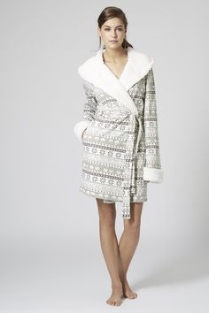 Fairisle Fleece Robe from TopShop