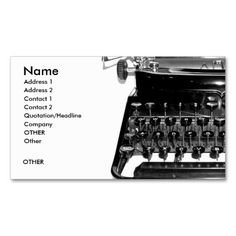 Old Typewriter Writer Journalist Author Business Business Card ...