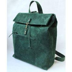 green suede backpack by nastya klerovski
