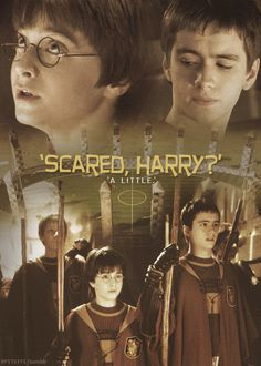 """Scared Harry?"" - Oliver Wood  ""A little."" - Harry Potter"