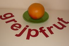 #magnetic #letters with #grejpfrut