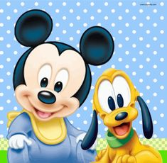 Disney Mickey And Dog Picture Clipart Baby Mickey Mouse, Mickey Mouse Kunst, Mickey Mouse First Birthday, Mickey Mouse Cartoon, Mickey Party, Mickey Mouse And Friends, Pluto Disney, Walt Disney, Disney Mickey