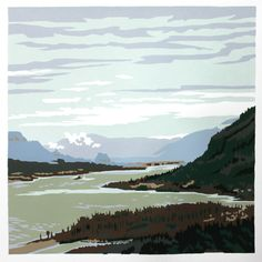 Columbia River Gorge 18x20  by Jim Winters  $280  #OREGON