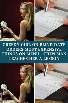 Greedy Girl On Blind Date Orders Most Expensive Things On Menu - Then Man Teaches Her A Lesson Awkward Funny, Wtf Funny, Hilarious, Bizarre Pictures, Funny Pictures, Couple Photoshoot Poses, Online Lessons, Blind Dates, Good Jokes