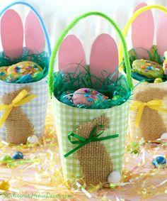 #Easter Egg Basket Containers at sewlicioushomedecor.com