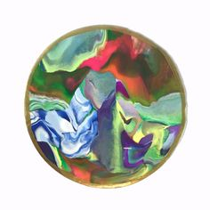 Super Mix Marbled Clay Coaster by emitate on Etsy