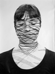 Annegret Soltau (b. 1946), Selbst 20, from the series Selbst, 1975-1976, 39 x 27 cm, photo overstitching, © Annegret Soltau.