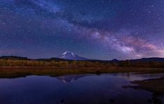 I was photographing Mt Adams at night. The Moon was so bright, that the starts could be hardly seen. This is my dream picture with Milky Way. for the sky the settings are: at 30 sec, ISO 3200 , for the sky I used mm nikon. Trout Lake Wa, Dream Pictures, Milky Way, Washington State, Trip Planning, Sky, Mountains, Night, Travel