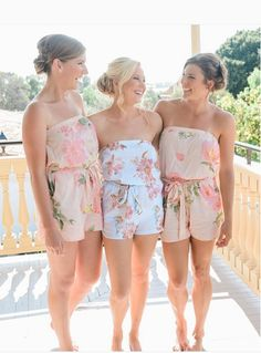 Comfy But Cute Will Forever Be Squad Goals Bridesmaids And Bridal Rompers From Plumprettysugar