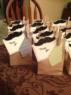 Favors for a Mustache Bash