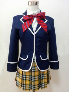 Relaxcos Shokugeki No Soma Nakiri Elina Outfits Uniform Cosplay Costume * Want additional info? Click on the image.