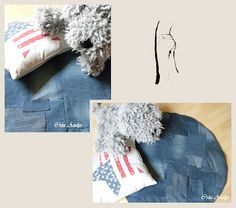 tapis / jean / recyclage / diy