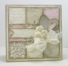 Vintage wedding card  LOVELY