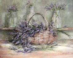 Ready to Hang Print - Lavenders - POSTAGE included Australia wide