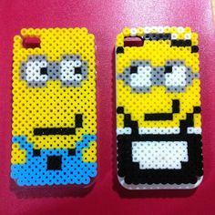 Minion iPhone4 cover perler beads by shangdiepowu
