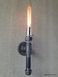 Edison Sconce Lamp Wall Light Industrial by newwineoldbottles