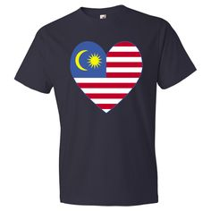 Design on products, merchandise, clothing, tees, T-shirts and baby and toddler stuff features a heart shaped flag of #Malaysia, or Malaysian #Flag. Sometimes, known as the Malay Flag. Fun way to honor and shore your love and pride in your ethnic heritage, culture and ancestry. Fun for travelers wanting to recall a trip, vacation or holiday. $22.99 http://ink.flagnation.com from your @Auntie Shoe