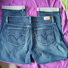 NEW Levis Too Superlow 524 crop jeans sz 9 Brand new, perfect condition Levi's!  No PayPal, no trades, no other sites. Levi's Jeans Ankle & Cropped