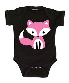 Look at this Black & Pink Fox Bodysuit - Infant on #zulily today!