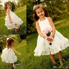 Buy Girl Ivory Tea Length Flower Girls Dresses Online from Low Cost Flower Girls Dresses Wholesalers | DHgate.com - Page 12