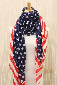 Fashion American Flag Print Scarf