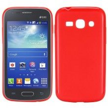 Capa Galaxy Ace 3 - Gel Vermelho  R$14,61