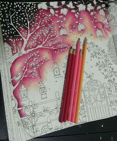 Drawing inspirational adult coloring ideas for 2019 Colored Pencil Tutorial, Colored Pencil Techniques, Coloring Tips, Adult Coloring, Secret Garden Coloring Book, Johanna Basford Coloring Book, Coloring Tutorial, Colouring Techniques, Drawing Techniques