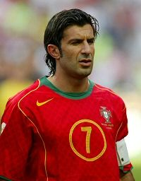 Luis Figo, one of the finest footballers Portugal has produced, he controversially left Barcelona to join arch rivals Real Madrid