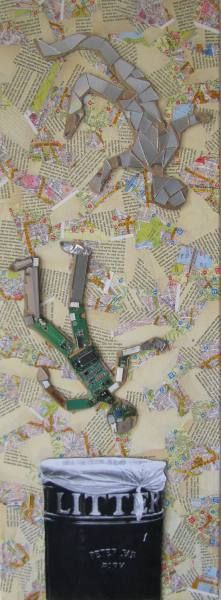 Redundant £40 - my mixed media piece about more than the state of the economy!