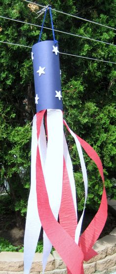 4th of July art projects for preschoolers | 4th of July Streamer craft added to 1 - 2 - 3 Learn Curriculum - under ...