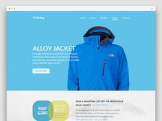 Free Flat Website PSD – TNF Alloy