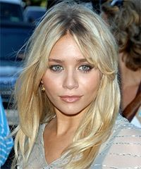 Ashley worked the red carpet at The 2006 Teen Choice Awards with this great look. Medium length layers were cut into the ends of Ashley's long blonde locks to create texture and to add a little kick to the slight wave in the ends of the hair. Long, middle-parted bangs were also added to the style and were used to provide this great casual finish.
